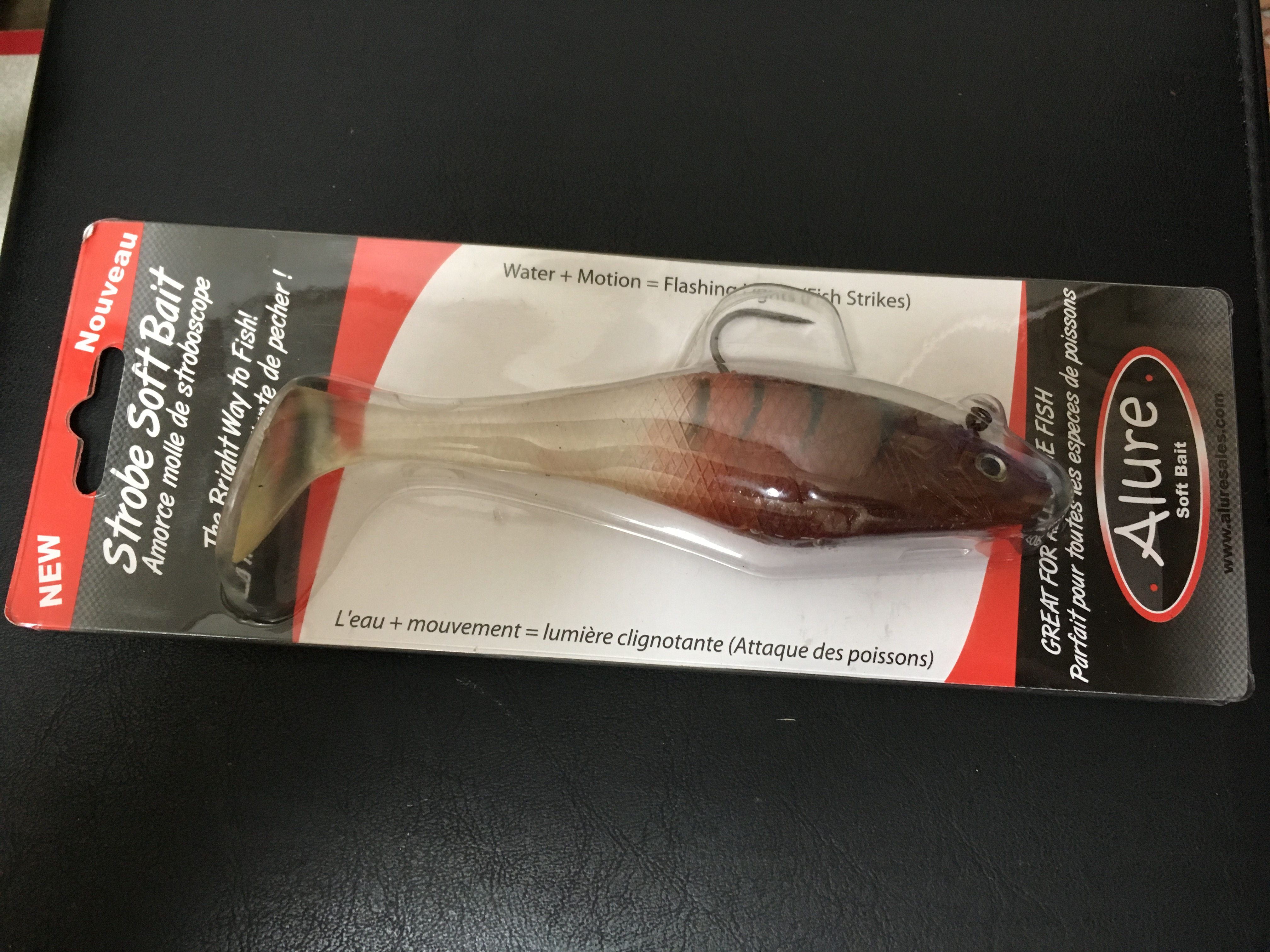 Alure Strobe Soft Bait in Burgundy Red